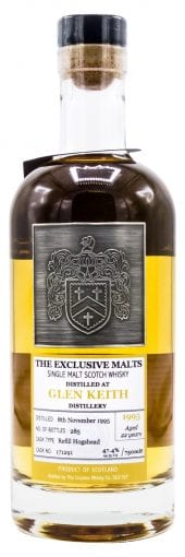 1995 Exclusive Malts Single Malt Scotch Whisky Glen Keith, 22 Year Old 750ml