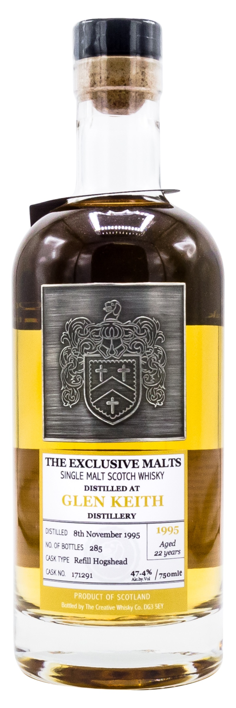 1995 EXCLUSIVE MALTS SINGLE MALT <br>SCOTCH WHISKY GLEN KEITH, 22 YEAR OLD