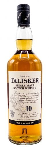 Talisker Single Malt Scotch Whisky 10 Year Old 750ml
