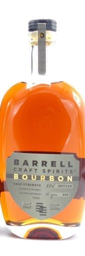 Barrell Craft Spirits Bourbon Whiskey 15 Year Old, Cask Strength, 104.9 Proof 750ml