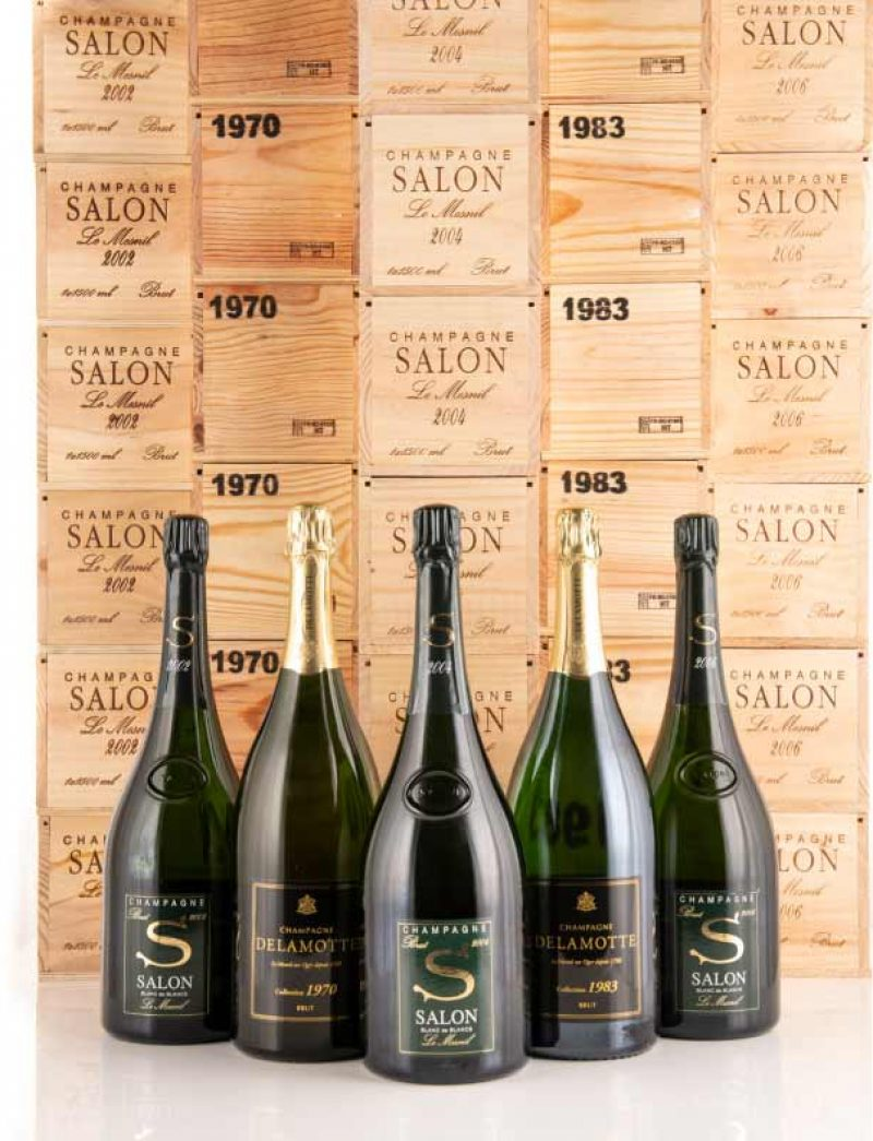 Lot 802: Super-lot experience at the House of Salon including 30 magnums of Delamotte and Salon