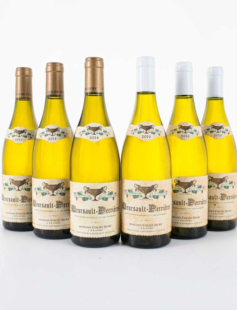 Lot 178, 179: 3 bottles each 2010 and 2014 Coche-Dury Meursault Perrieres