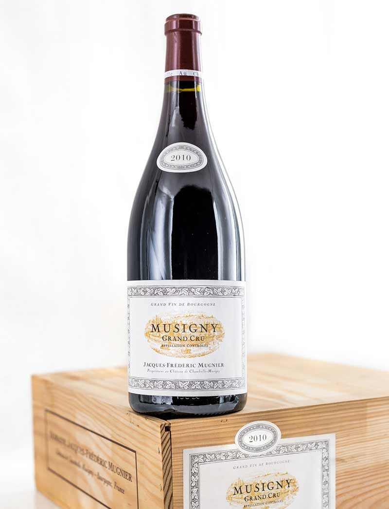 Lot 254: 3 magnums 2010 J.F. Mugnier Musigny in OWC
