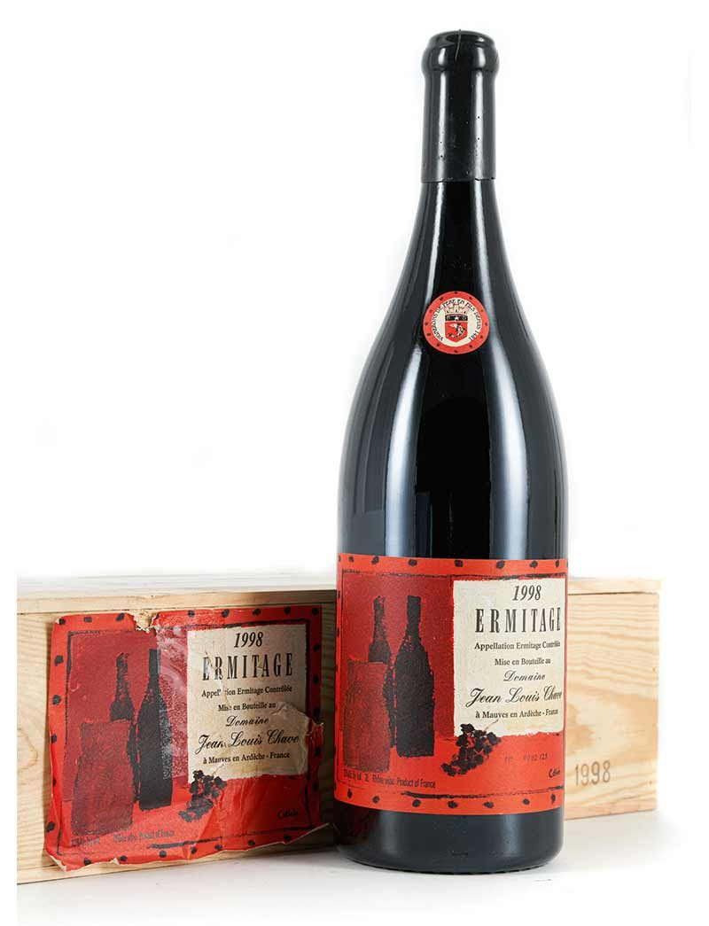 Lot 884: 1 Jeroboam 1998 J.L. Chave Ermitage Cuvee Cathelin in OWC