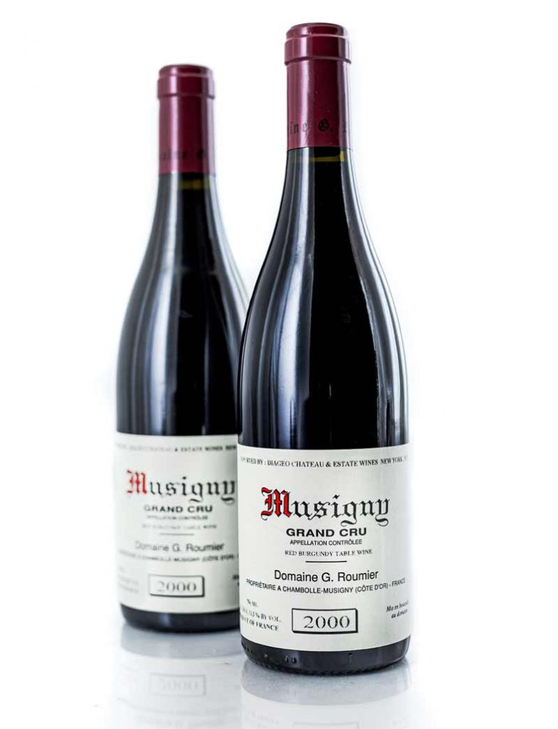Lot 957: 2 bottles 2000 G. Roumier Musigny